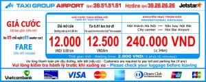 Chương trình khuyến mãi trọn gói dành cho Taxi Group Airport 5 chỗ