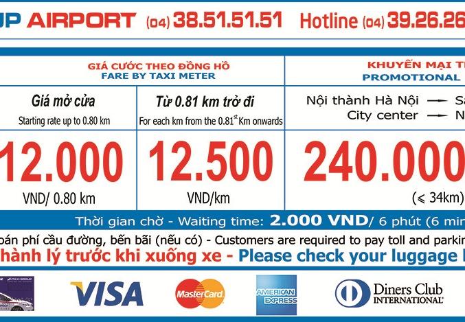 Chương trình khuyến mãi trọn gói dành cho Taxi Group Airport